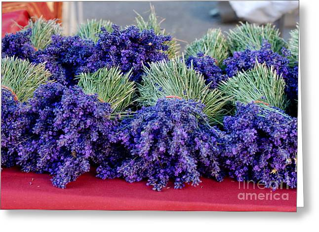 Provence Village Greeting Cards - Lavender Bunches Greeting Card by Andrea Simon
