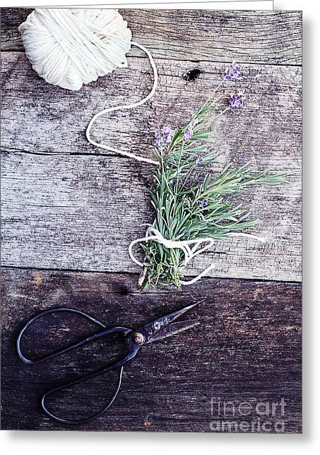Scissors Greeting Cards - Lavender Bundle Greeting Card by Stephanie Frey