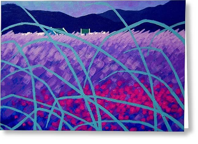 Purple Mountains Prints Greeting Cards - Lavender Field Greeting Card by John  Nolan