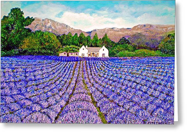 Cape Town Paintings Greeting Cards - Lavender Fields Greeting Card by Michael Durst