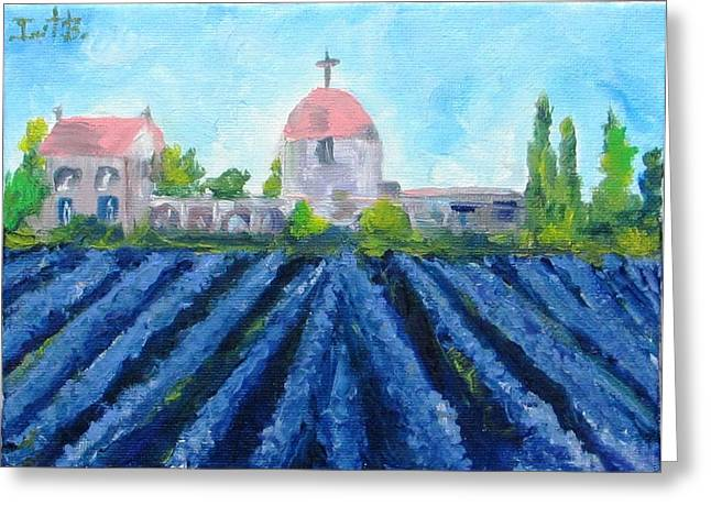 Franch Greeting Cards - Lavender In Provence Greeting Card by Irit Bourla
