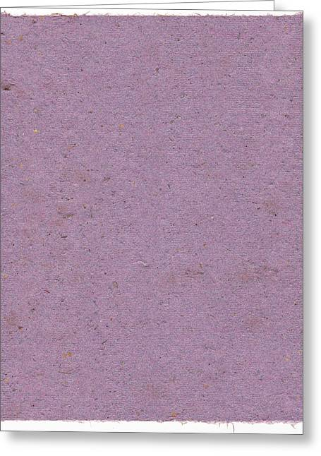Sweat Mixed Media Greeting Cards - Lavender Paper Greeting Card by Annie Alexander