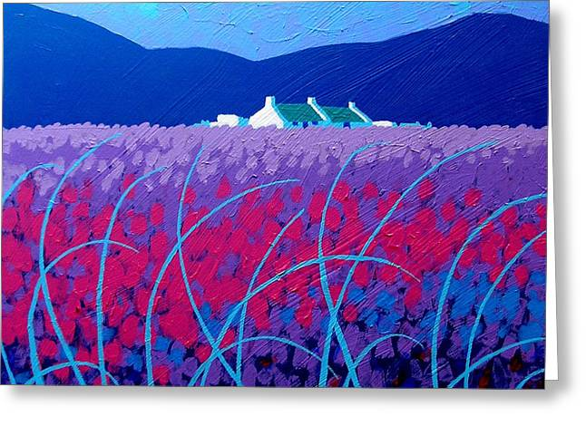 Yule Greeting Cards - Lavender Scape Greeting Card by John  Nolan