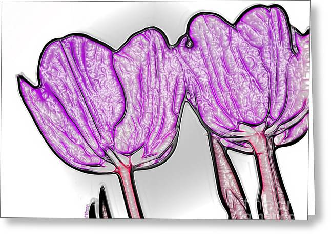 Reception Greeting Cards - Lavender Tulip in Plastic Greeting Card by Cheryl Young