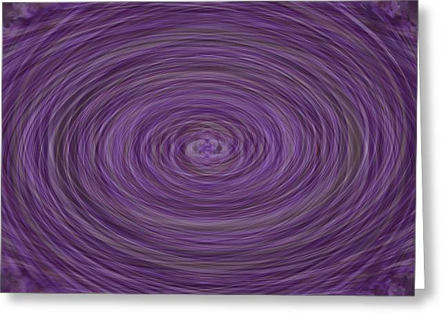 Digital Manipulation Art Greeting Cards - Lavender Vortex Greeting Card by Teresa Mucha