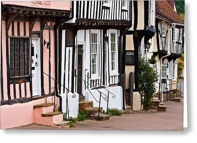 East Anglia Greeting Cards - Lavenham street Greeting Card by Tom Gowanlock