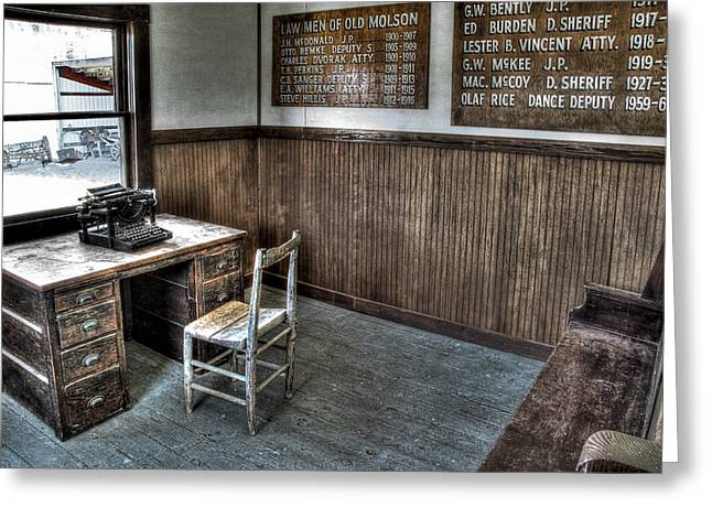Law Man's Office - Molson Ghost Town Greeting Card by Daniel Hagerman