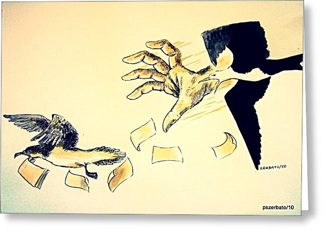Slave Money Greeting Cards - Law of the Strong Greeting Card by Paulo Zerbato