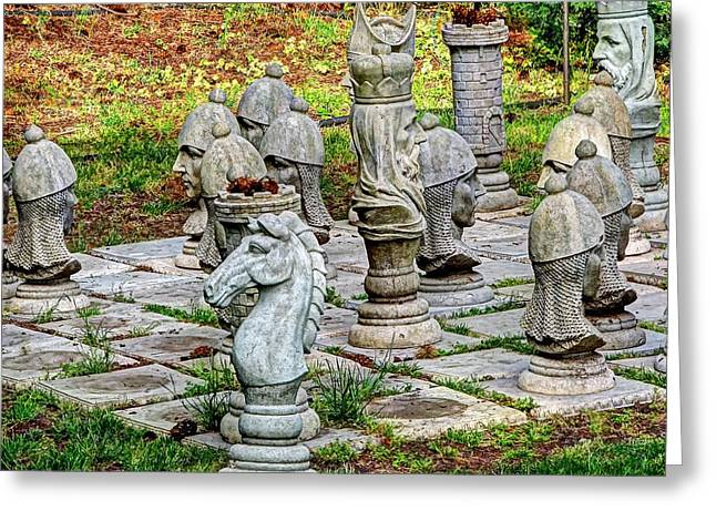 Mistymisschristie Greeting Cards - Lawn Chess Greeting Card by Chris Anderson