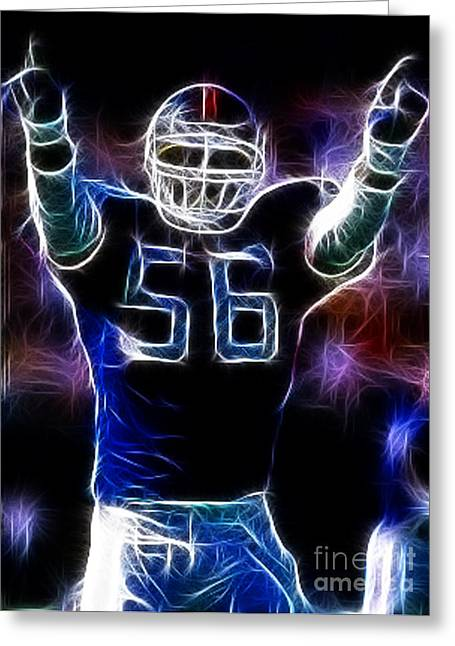 Linebacker Greeting Cards - Lawrence Taylor  Greeting Card by Paul Ward