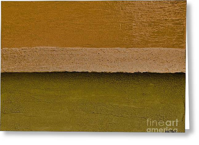Olive Green Greeting Cards - Layer after Layer Greeting Card by Marsha Heiken