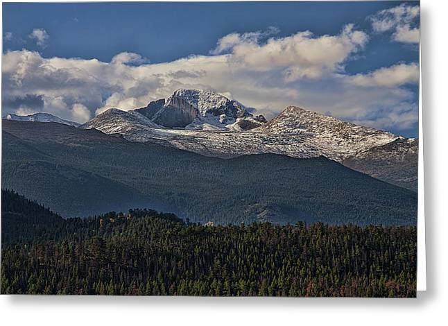 Snow Capped Greeting Cards - Layers Greeting Card by Anne Rodkin
