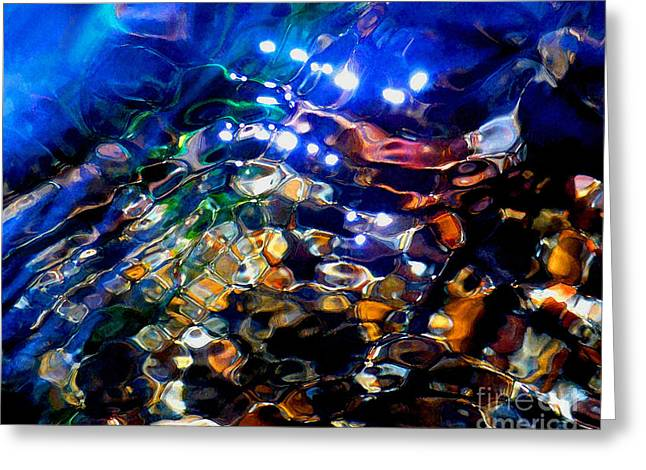Abstract Expressionist Mixed Media Greeting Cards - Layers Of Color And Light Greeting Card by Terril Heilman