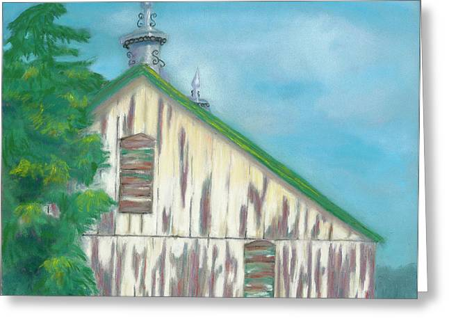Old Barns Pastels Greeting Cards - Layers of Years Gone By Greeting Card by Arlene Crafton