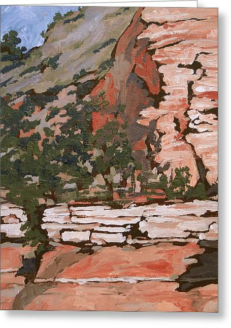 West Fork Paintings Greeting Cards - Layers Greeting Card by Sandy Tracey