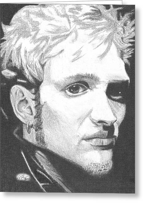 Staley Greeting Cards - Layne Staley Greeting Card by Jeff Ridlen