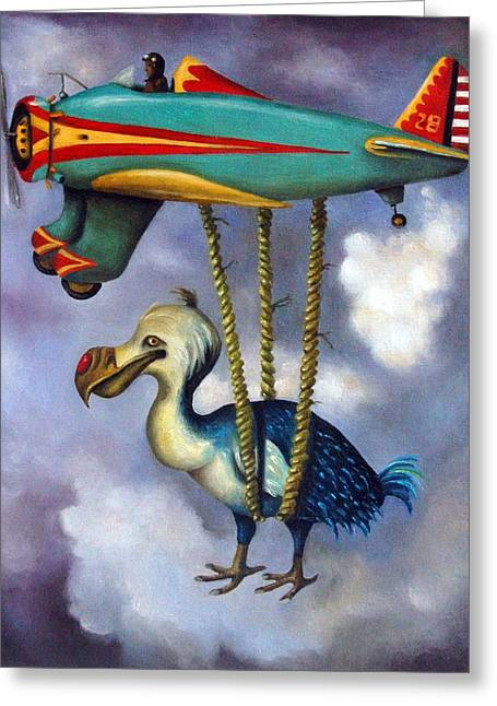 Dodo Greeting Cards - Lazy Bird Greeting Card by Leah Saulnier The Painting Maniac