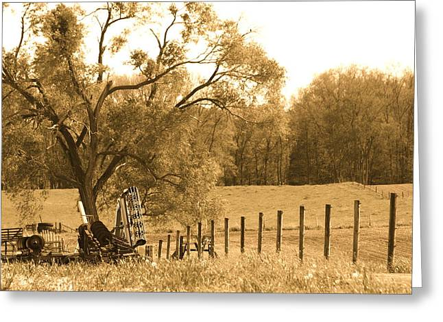 Indiana Landscapes Mixed Media Greeting Cards - Lazy Days Greeting Card by Bruce McEntyre