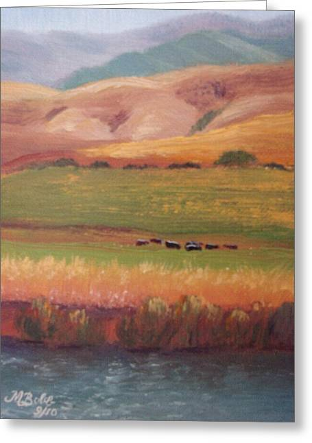 Just Because Greeting Cards - Lazy Grazing  Greeting Card by Margaret Bobb