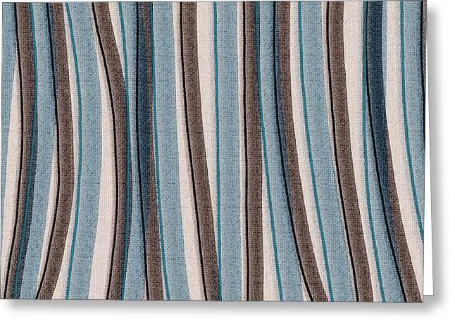 Lazy Stripes Greeting Card by Bonnie Bruno