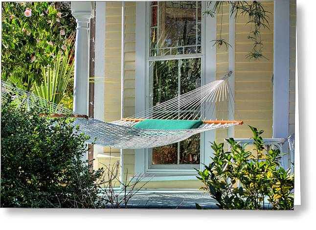Historic Home Greeting Cards - Lazy Sundays Greeting Card by JC Findley