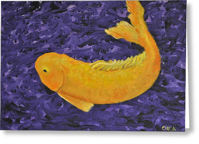 Stein Paintings Greeting Cards - Le Bonheur  Greeting Card by Carla Stein