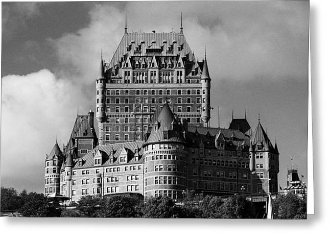 Geschichte Greeting Cards - Le Chateau Frontenac - Quebec City Greeting Card by Juergen Weiss
