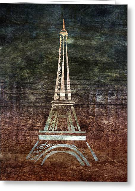 Man Made Abstract Greeting Cards - Le Eiffel Greeting Card by Lauren Goia