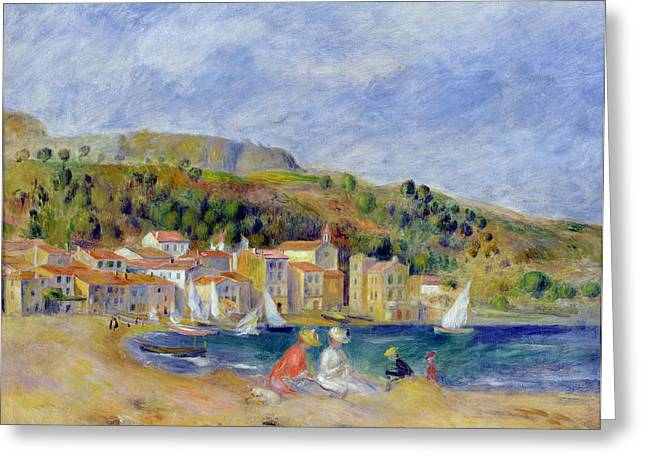Riviera Greeting Cards - Le Lavandou Greeting Card by Pierre Auguste Renoir