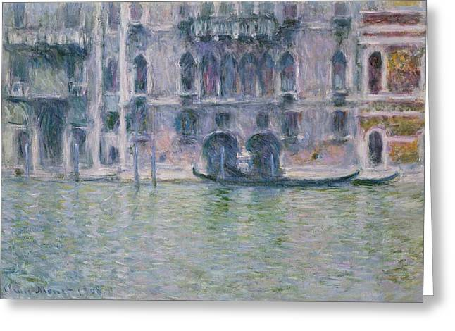 Gothic Greeting Cards - Le Palais da Mula Greeting Card by Claude Monet
