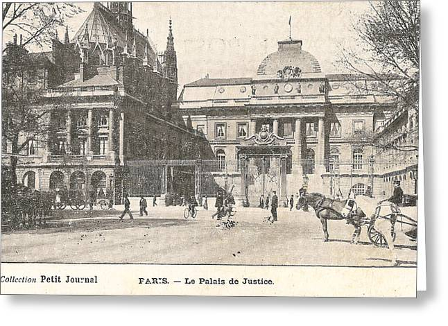 Historical Buildings Digital Art Greeting Cards - Le Palais de Justice Greeting Card by Nomad Art And  Design