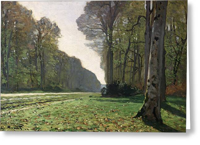 Forests Greeting Cards - Le Pave de Chailly Greeting Card by Claude Monet