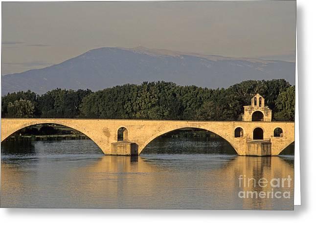 South Of France Greeting Cards - Le Pont Benezet.Avignon. Provence. Greeting Card by Bernard Jaubert