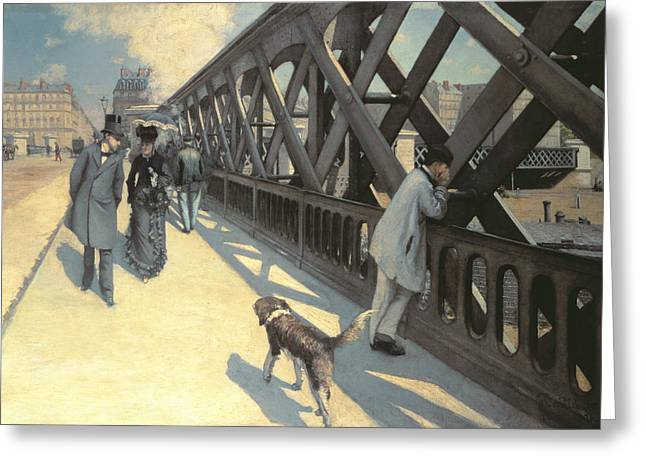 1876 Greeting Cards - Le Pont de LEurope Greeting Card by Gustave Caillebotte
