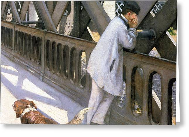 Le Pont de L'Europe Greeting Card by Gustave Caillebotte