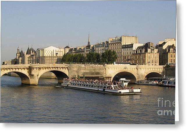 City-scape Greeting Cards - Le Pont Neuf. Paris. Greeting Card by Bernard Jaubert