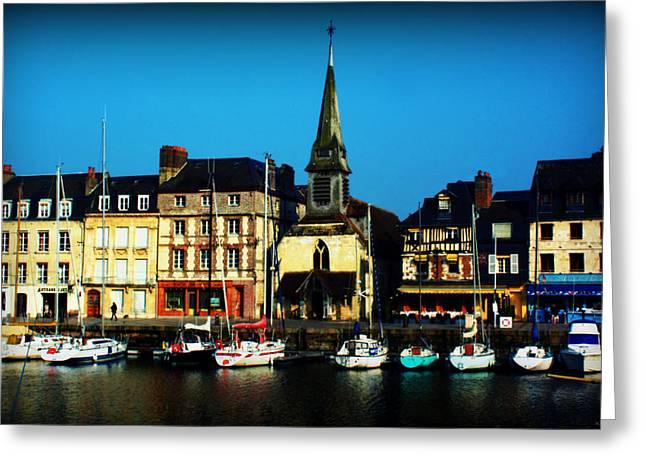 Calvados Greeting Cards - Le Port de Honfleur Greeting Card by Susie Weaver