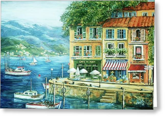 Fishing Boats Greeting Cards - Le Port Greeting Card by Marilyn Dunlap