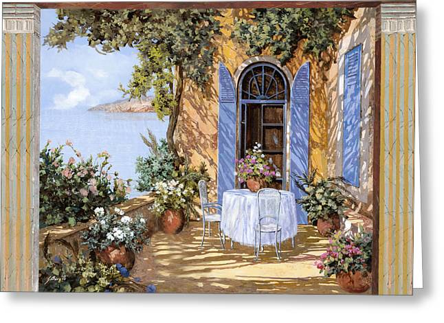 Doors Greeting Cards - Le Porte Blu Greeting Card by Guido Borelli