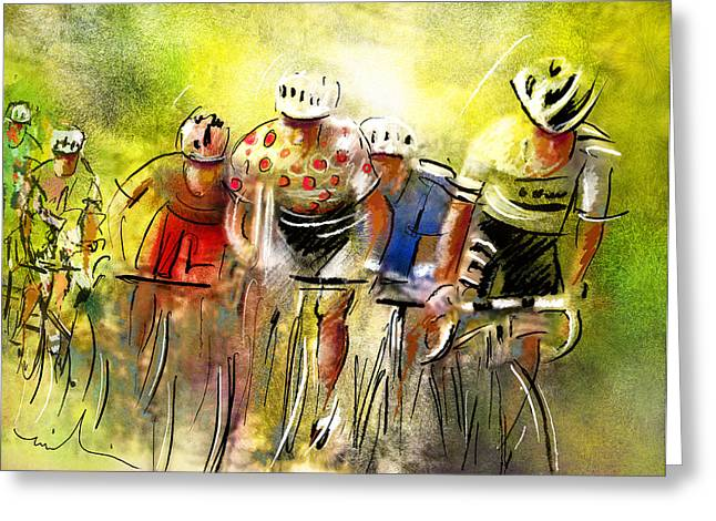 Tour Mixed Media Greeting Cards - Le Tour de France 07 Greeting Card by Miki De Goodaboom