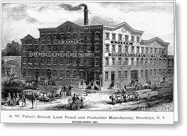 Lead Pencil Factory Greeting Card by Granger