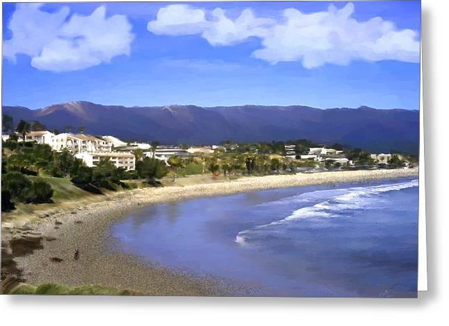 Paradise Greeting Cards - Leadbetter Beach Greeting Card by Kurt Van Wagner