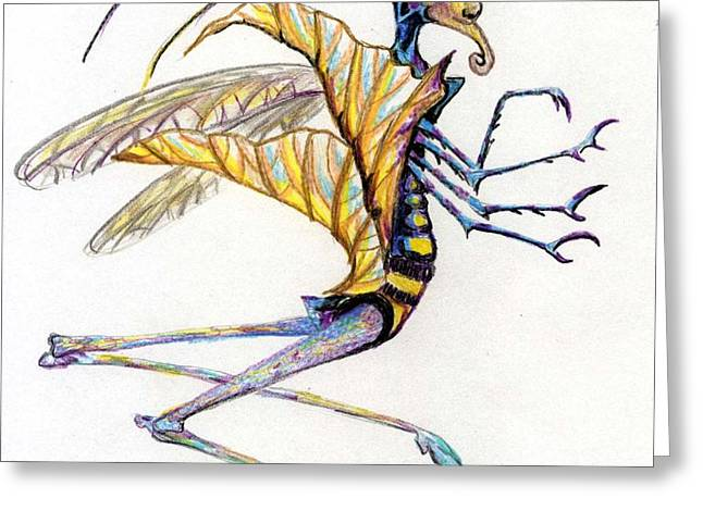 Leaf Hopper Greeting Card by Mindy Newman