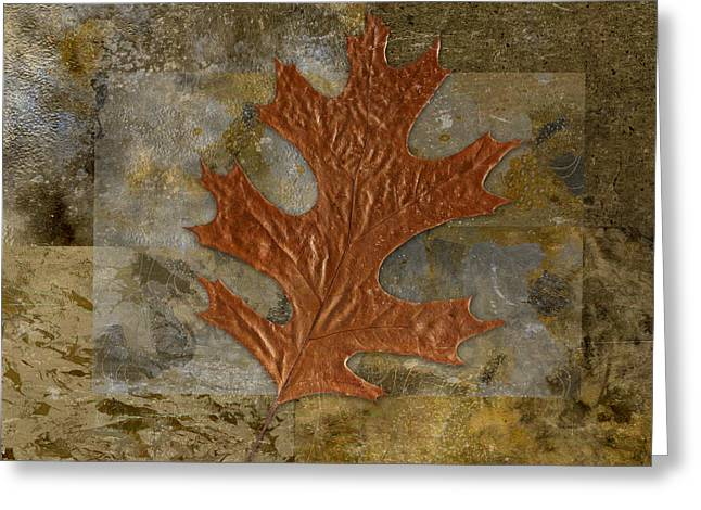 Leaf Life 01 -Brown 01b2 Greeting Card by Variance Collections