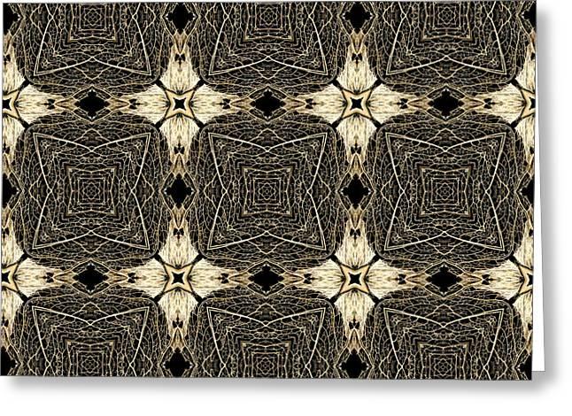 Leaves Digital Art Greeting Cards - Leaf Skeleton Terrazzo 5 Greeting Card by Karen Musick