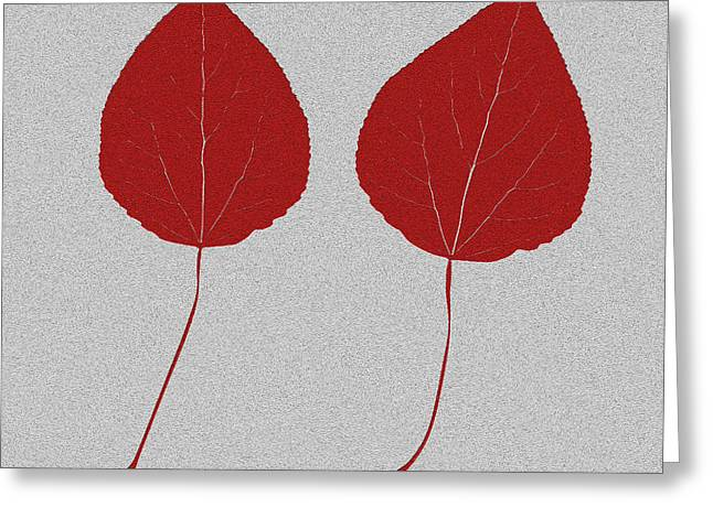 Home Decor Posters Mixed Media Greeting Cards - Leafs rouge Greeting Card by Bruce Stanfield