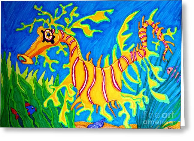 Leafy Sea Dragon Greeting Cards - Leafy Sea Dragon Greeting Card by Nick Gustafson