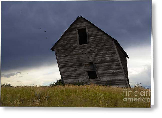 Alberta Prairie Landscape Greeting Cards - Leaning A Little 2 Greeting Card by Bob Christopher