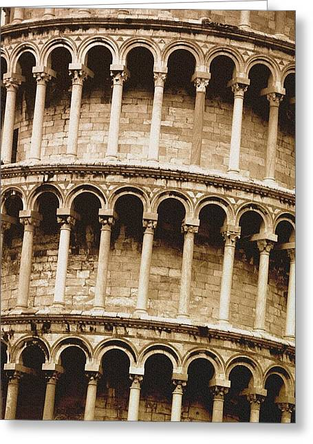 Leaning Tower Of Pisa Tuscany Italy Greeting Card by Carson Ganci
