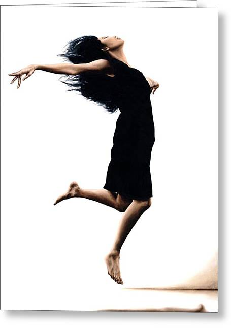 Black Dress Greeting Cards - Leap into the Unknown Greeting Card by Richard Young